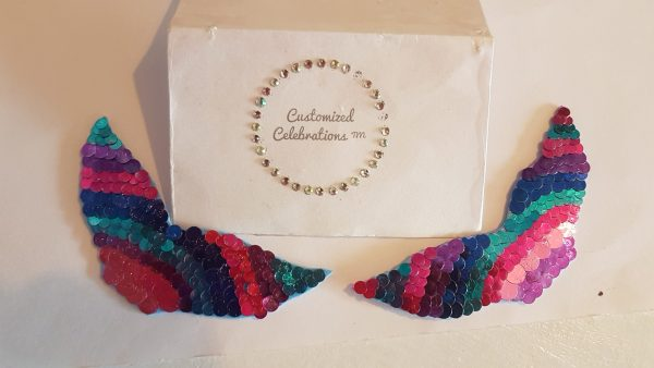 mermaid sequin hair clips