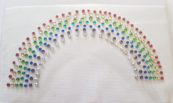 rainbow rhinestone transfer
