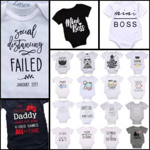 personalised iron-on baby grow sticker