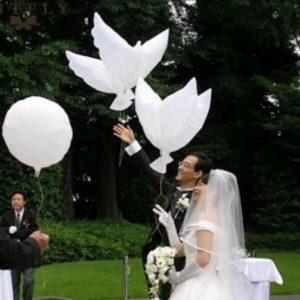 Dove wedding balloons