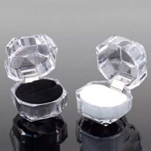 crystal clear diamond gift box