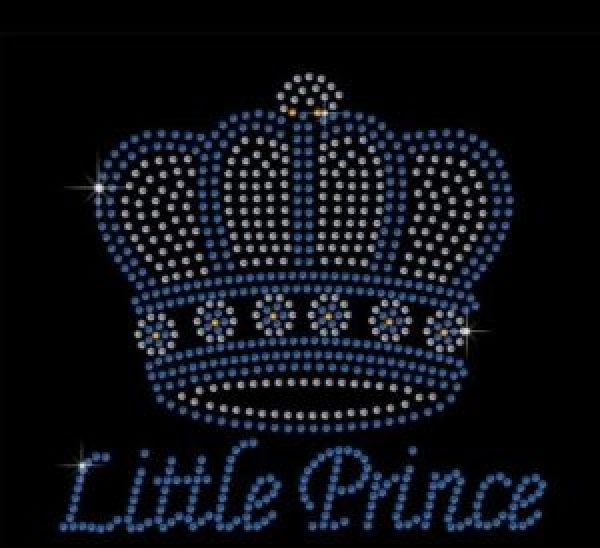 Little prince rhinestone transfer
