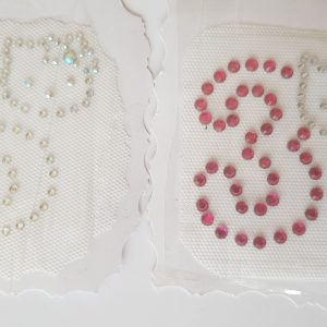 kitty rhinestone numbers