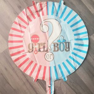 "boy or girl round foil balloon 18"""