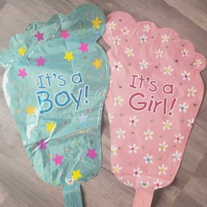 new baby foot handheld baton foil balloon