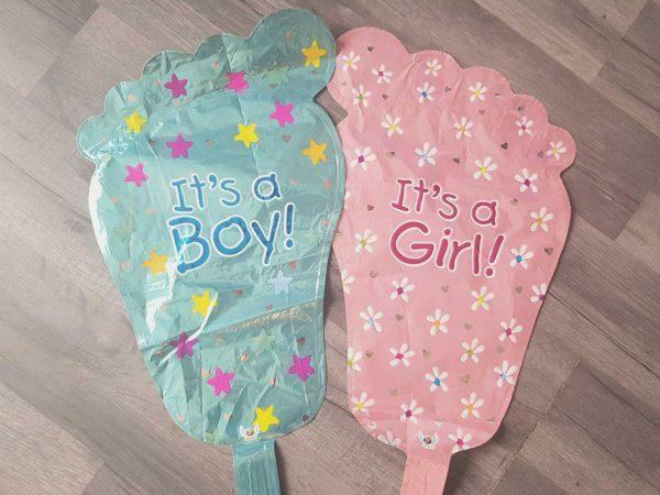 new baby foot handheld baton foil balloon