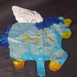 blue unicorn foil balloon