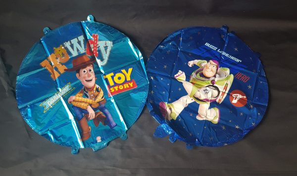 """toy story, buzz or woody 18"""" round foil balloons"""