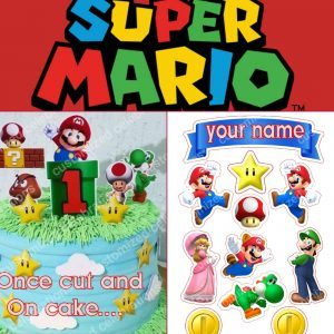 personalised mario cake toppers