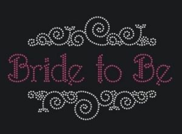 bride to be with detail rhinestone transfer