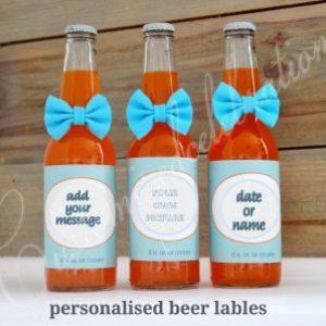 personalised beer bottle wraps