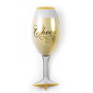 Cheers glass foil balloon