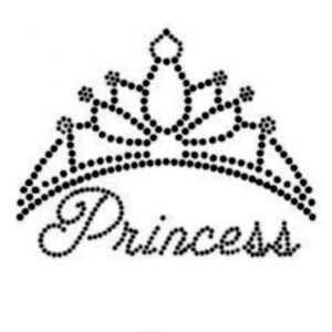 Disney font Princess crown rhinestone transfer