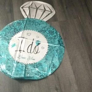 ' i do ' engagement ring foil balloon