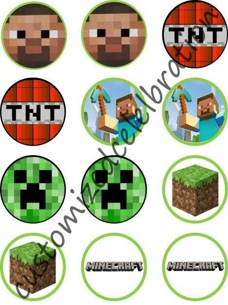 minecraft cupcake toppers