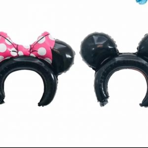 minnie or micky mouse 3d ear headband balloons