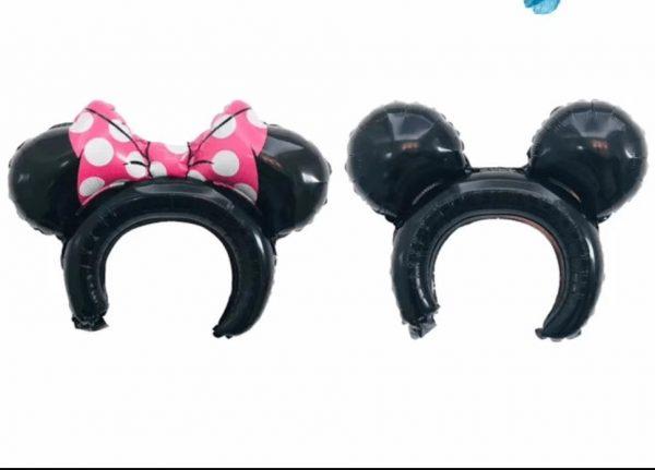 minnie or micky mouse 3d ear headband balloons