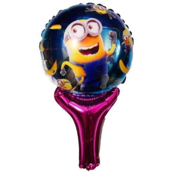 minions handheld baton foil balloon
