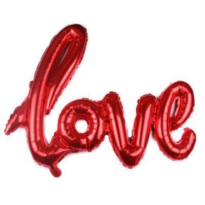 3D love foil balloon