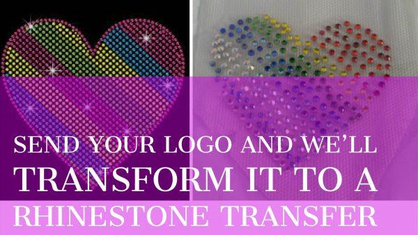 rhinestone, bling, iron on, transfers, stickers logos
