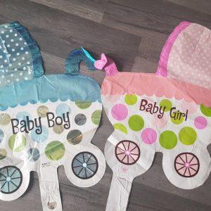 new baby pram handheld baton foil balloon