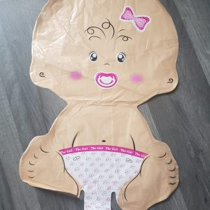 baby girl handheld foil balloon