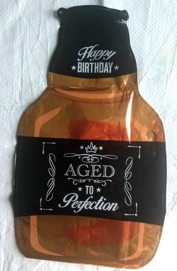 aged to perfection small bottle foil balloon