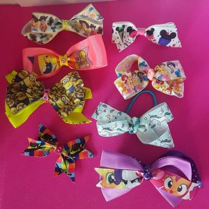 BOGOF Girls BOGOF Girls shopkins long-tail cheer hair bows, grosgrain ribbon, clips bobbles long-tail cheer hair bows, grosgrain ribbon, clips bobbles