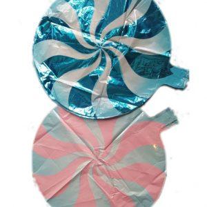 "lollypop round foil balloon 18"""