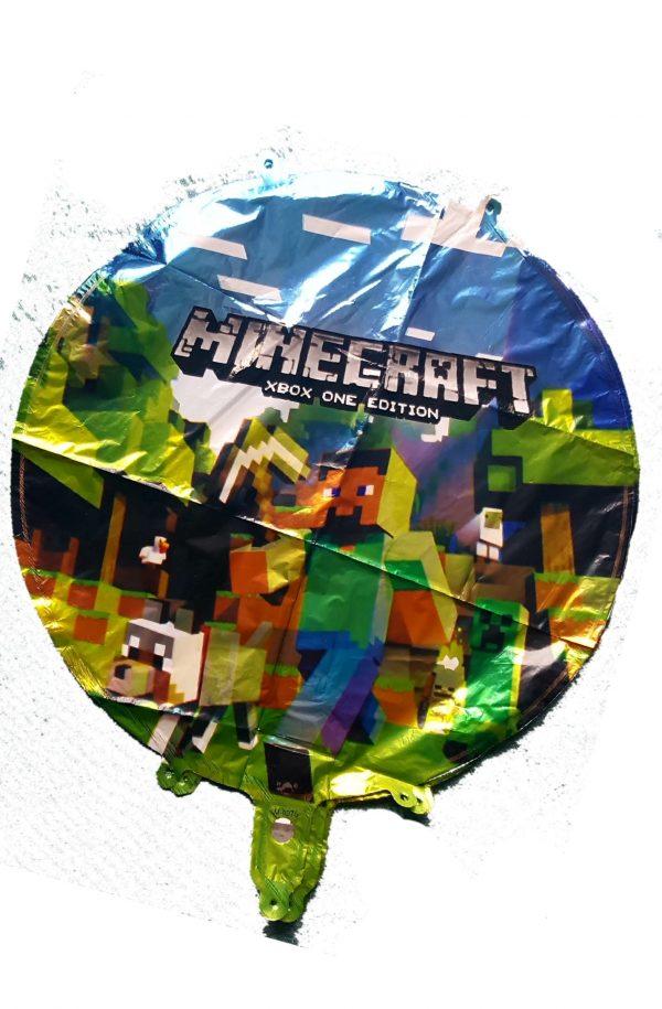 """minecraft round foil balloon 18"""""""