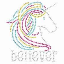 Believer rainbow unicorn transfer