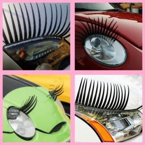 headlight car eyelashes