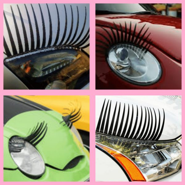 headlight car eyelashes