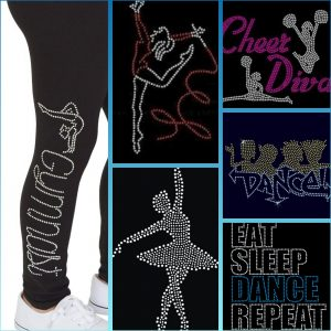 cheer diva rhinestone transfer