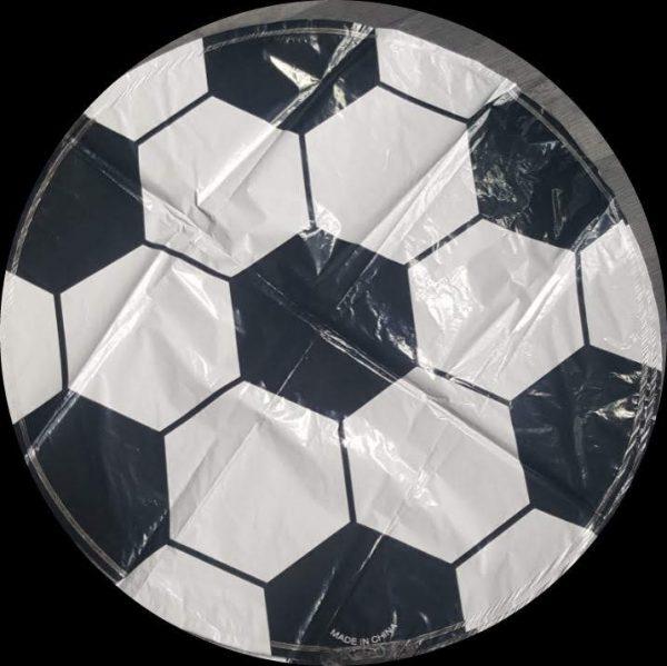 "football round foil balloon 18"""
