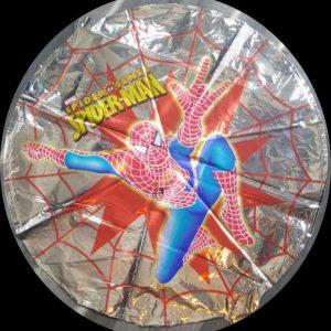 "silver spiderman round foil balloon 18"""
