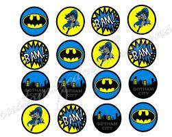batman retro cupcake toppers