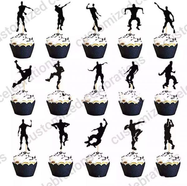 fortnite dances cupcake toppers