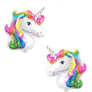 Unicorn head foil balloons