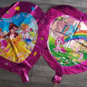 "princess / my little pony heart foil 18"" balloon"