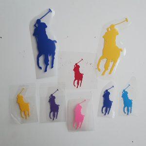 polo horse vinyl transfer