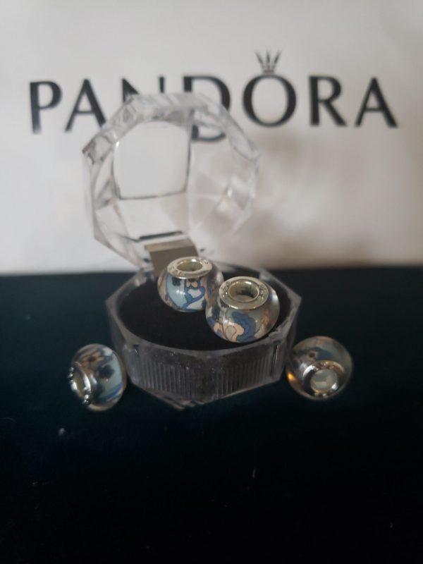 Glass Pandora style beads