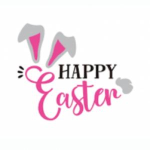 Happy Easter vinyl transfer