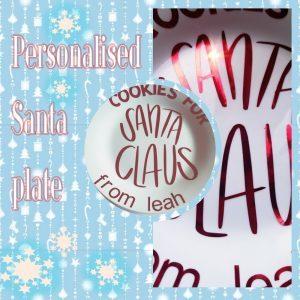 personalised cookies for Santa sticker