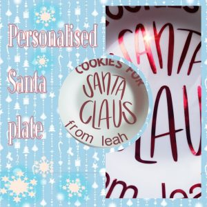 cookies for Santa personalised sticker
