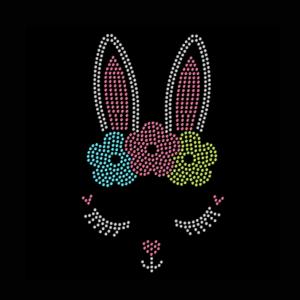 easter bunny rhinestone transfer