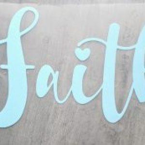 faith vinyl transfer