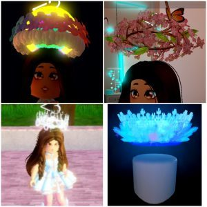 digital in-game gift, Royale High halo, Roblox.