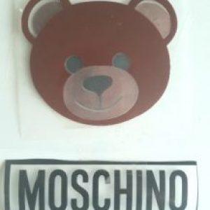 moschino bear vinyl transfer