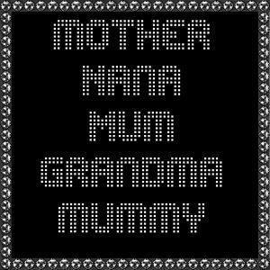 mum, nana, mother's day rhinestone transfer